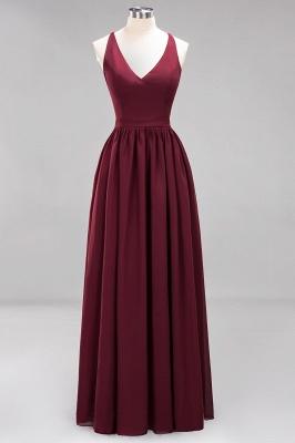 Schlichte Brautjungfernkleider Lang | Fest Kleider zur Hochzeit_1
