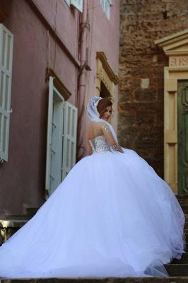 Luxus Brautkleider Prinzessin mit Ärmel | Hochzeitskleider Mit Glitzer_5