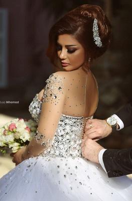 Luxus Brautkleider Prinzessin mit Ärmel | Hochzeitskleider Mit Glitzer_4