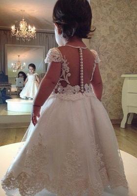 Weiß Blumenmädchenkleider Lang Mit Spitze Kleider Für Blumenmädchen Günstig